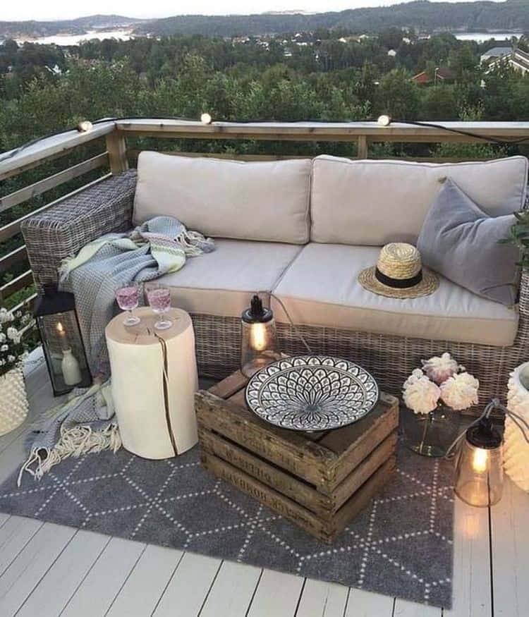 A truly magnificent balcony decking