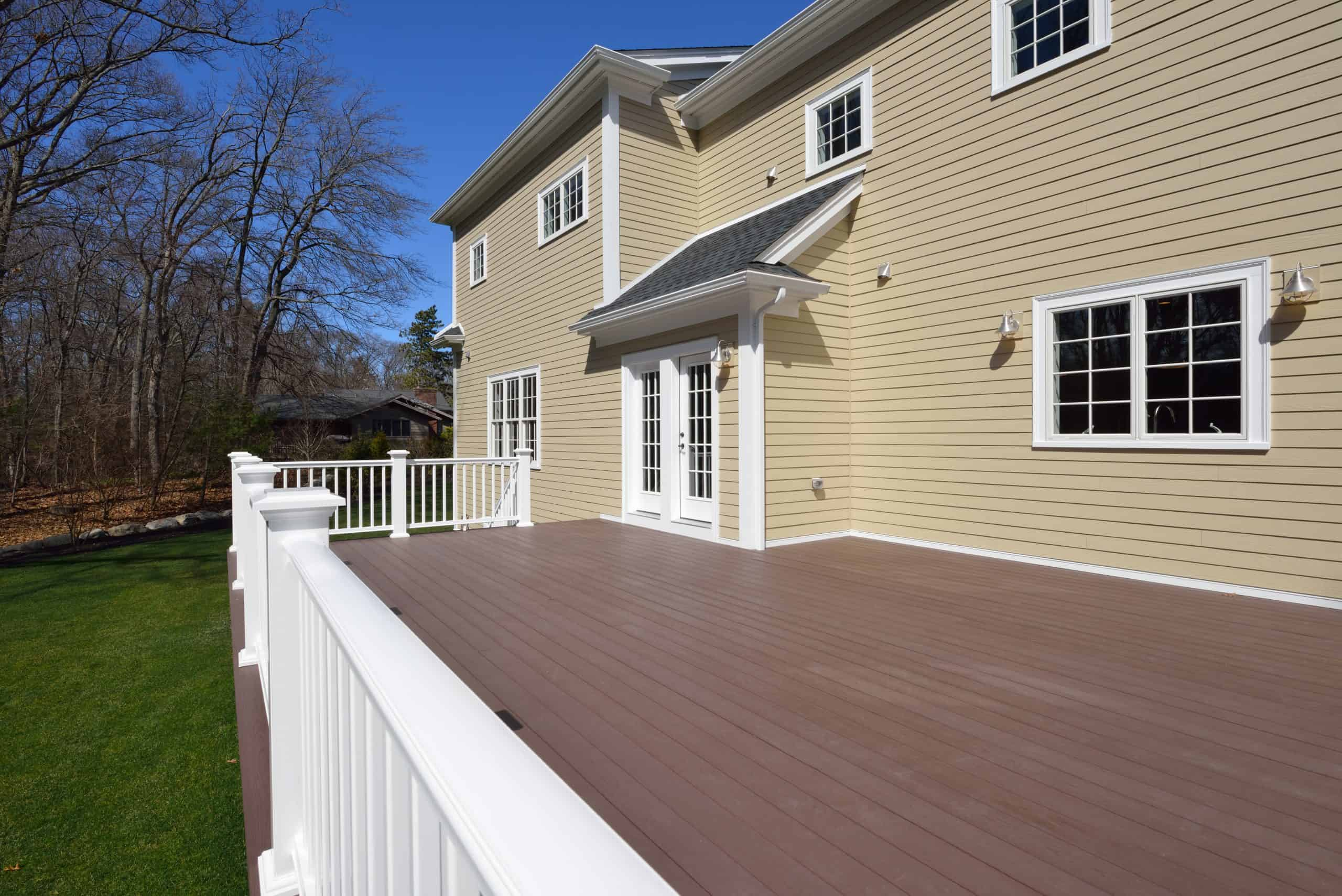 Large New Deck in House Backyard